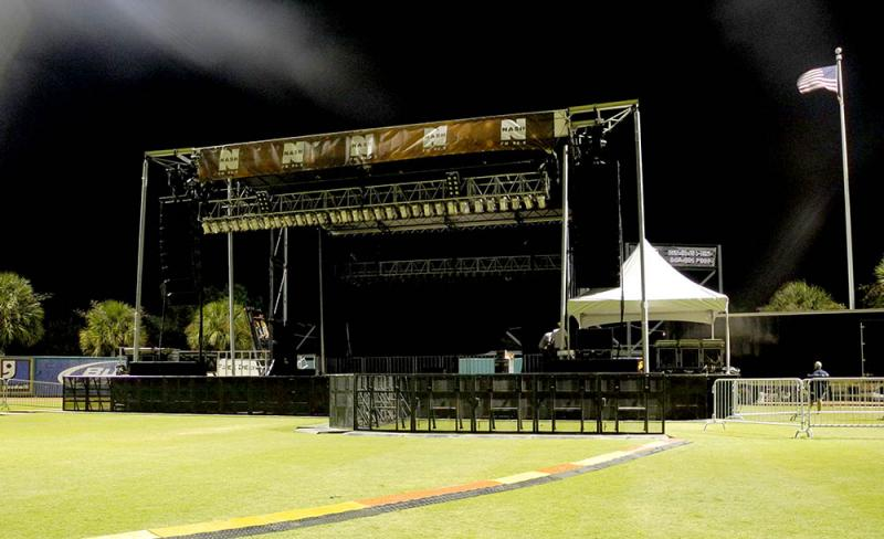 Full Production Setup Stage Presence Event Rentals Charleston, SC