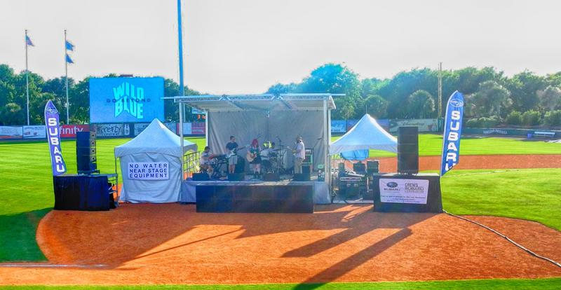 SL-50 Portable Stage Stage Presence Event Rentals Charleston, SC