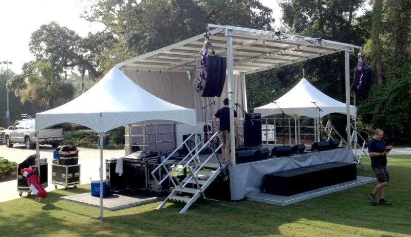 Full Production Package Stage Presence Event Rentals Charleston, SC